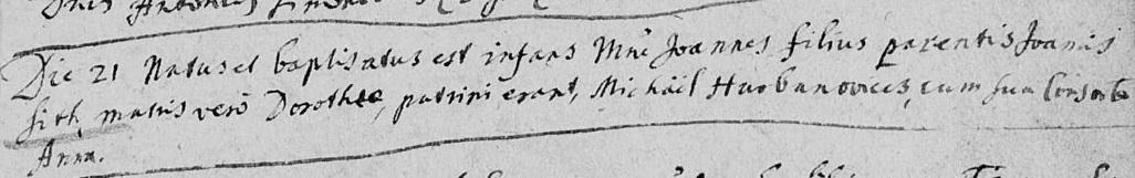 paragraph entry RC. 1718 Malacky Velke Leváre
