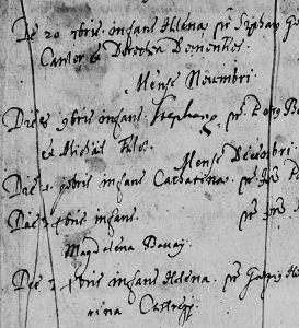 church register 1665 Csesztreg rc.