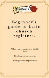 Beginner's guide to Latin church registers