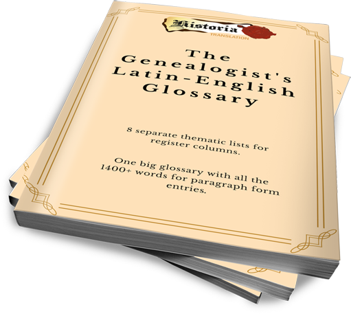 The Genealogist's Latin-English Glossary